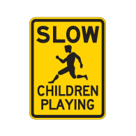 SLOW Children Playing Signs - 18x24 - Official Reflective Rust-Free Heavy Gauge Aluminum Children At Play Signs