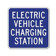 12X12 Electric Vehicle Charging Station Signs - 18x18- Reflective Rust-Free Heavy Gauge Aluminum Electric Vehicle Station Signs