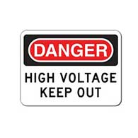 Danger High Voltage Keep Out Signs - 24x18- Reflective Rust-Free Heavy Gauge Aluminum Security Signs