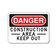 Danger Construction Area Keep Out Signs - 24x18- Reflective Rust-Free Heavy Gauge Aluminum Signs