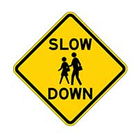 Slow Down Children Near Road Signs - 18X18 - Official Reflective Rust-Free Heavy Gauge Aluminum Children At Play Signs