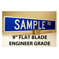 Custom Street Name Signs - 9 Inch High - Flat Blade - EGP