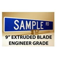 Custom Street Name Signs - 9 Inch High - Extruded Blade - EG