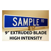 Custom Street Name Signs - 9 Inch High - Extruded Blade - HIP