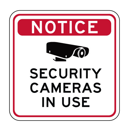 notice security cameras in use sign 24x24 stopsignsandmore com