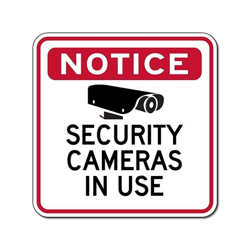 picture regarding Video Surveillance Sign Printable referred to as Focus Basic safety Cameras In just Employ Signal - 18x18 Incorporate POF for Solar, Climate, and Graffiti Safety!