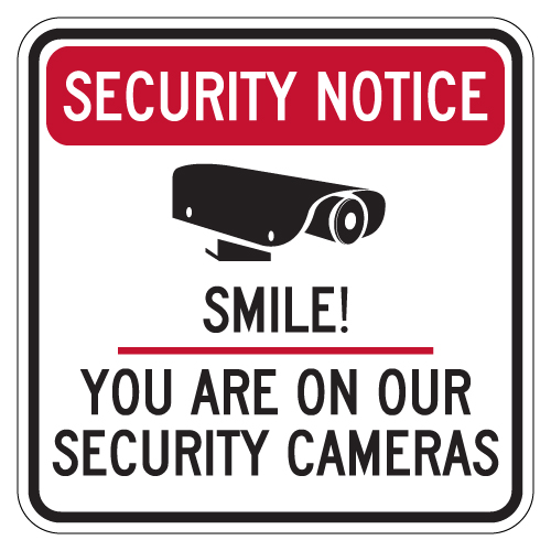 photograph relating to Smile You're on Camera Sign Printable named Basic safety Attention Smile! Yourself Are Upon Our Basic safety Cameras Indication - 30x30 Include POF for Solar, Climate, and Graffiti Safety!