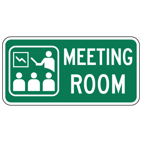 Meeting Room Sign With Symbol Text 12x6 Stopsignsandmore Com