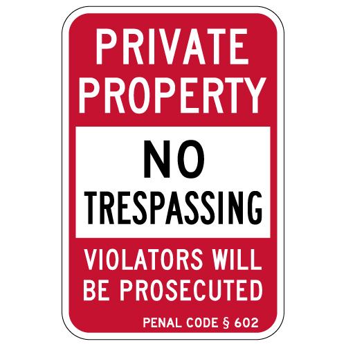 "No Trespassing Construction Area Violators Prosecuted Sign 12/""x18/"" Heavy Gauge"