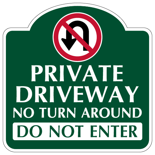 Private Road No Thru Traffic Signs Property 12 x 18 Aluminum Sign Street Weather Approved Sign 0.04 Thickness Traffic Signs