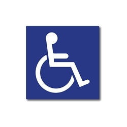 ADA Compliant International Symbol of Accessibility (ISA) Signs with Raised Symbol - 6x6