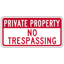 Private Property No Trespassing Signs - 12x6 - Reflective Rust-Free Durable Aluminum Signs
