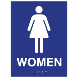 ADA Compliant Womens Restroom Wall Signs - 6x8