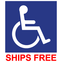 Label - Wheelchair Symbol (ISA) - 6x6 (Package of 3)