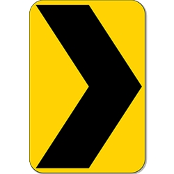 W1-8R - Right Chevron Arrow Warning Sign-12x18- Official MUTCD Reflective Rust-Free Heavy Gauge Aluminum Road Signs