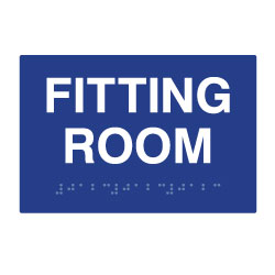 ADA Compliant Fitting Room Sign with Tactile Text and Grade 2 Braille - 6x4