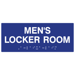 ADA Mens Locker Room Sign with Tactile Text and Grade 2 Braille - 10x4