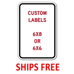 Custom Self-Adhesive Labels - 6x6 - Digitally printed color-fast peel-and-stick labels rated for 5 years.