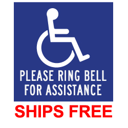 ADA Please Ring Bell For Assistance Decal