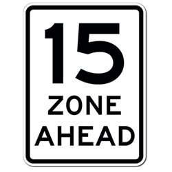 Choose the Speed and Colors You Want for this Custom Speed Zone Ahead Sign - 18x24- Reflective rust-free heavy gauge aluminum Speed Limit Signs from STOPSignsAndMore.com