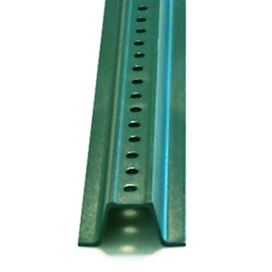 Eight-Foot Green U-Channel Sign Post - Heavy Gauge (2.0LBS/FT) rust-resistant green powder-coated steel signpost with predrilled holes and tapered end