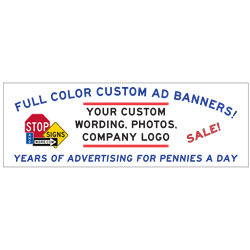 Full Color Custom Advertising Banners - 96x48