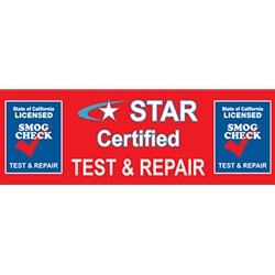 California Star Certified Text & Repair Banner - 72x24