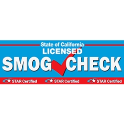 California SMOG CHECK Banner - Inspection And Repair Station - 72x24