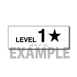 Title 24 and International Fire Code Stairwell Floor Number Signs - 8x3