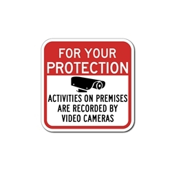 Camera Video Security Sign (Activities Monitored) 12x12