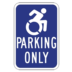 Active Wheelchair Symbol Handicapped Parking Only Signs - 12x18 - Reflective Rust-Free Heavy Gauge Aluminum ADA Parking Signs