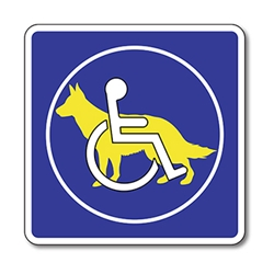 Service Animals Are Welcome Sign - 8X8 - Non-Reflective Rust-Free Aluminum Service Animals Welcome Signs for Outdoor or Indoor Use