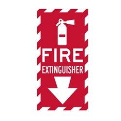 Fire Extinguisher Location Sign - 6x12 - Reflective rust-free heavy-gauge aluminum Fire Extinguisher Indicator Signs
