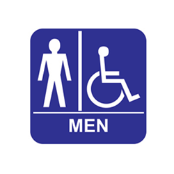ADA Economy Mens Restroom Wall Signs with Tactile Text Braille - 8x8