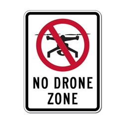 No Drone Zone Sign - 18x24 - Engineer Grade Reflective Rust-Free and Heavy Gauge Aluminum Speed Limit Sign from STOP Signs And More