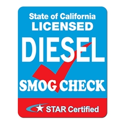 Diesel SMOG Check STAR Certified Station Sign - Single-Faced - 24x30