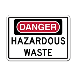 Danger Hazardous Waste Signs - 14x10 - Rust-free heavy-gauge and reflective OSHA compliant safety signs