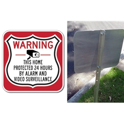 Shield Security Sign and Yard Stake Kit