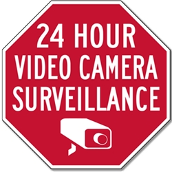 STOPSignsAndMore 24 Hour Camera-Video Security /Surveillance Sign 18x18