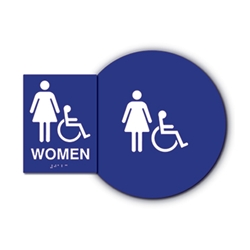 ADA Unisex Sign Kit with Wheelchair Symbol