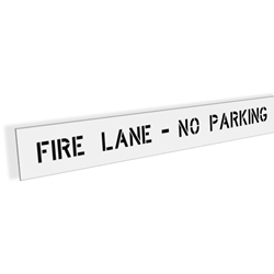 Fire Lane - No Parking Stencil - 74""