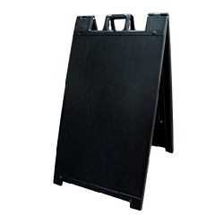 Black Portable Two-Sided A-Frame Sign Holder - Fits Signs Up To 24X36