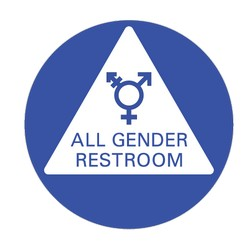All Gender Door Sign 12x12 non-gender specific