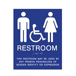 ADA Gender Neutral Wall Sign with Wheelchair Symbol 8x10
