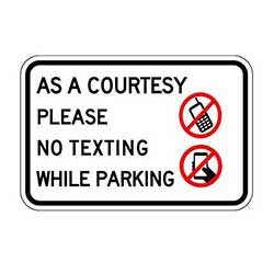 NO Texting/Parking Lot Sign 24x18- STOPSignsAndMore