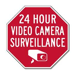 STOPSignsANdMore 24 Hour Video Camera Surveillance Signs- Reflective/ALuminum