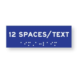 ADA Compliant Custom Room Name Signs - Tactile Text - Braille