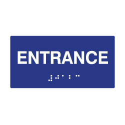 ADA Compliant Entrance Signs with Tactile Text and Grade 2 Braille - 6x3