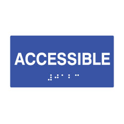 ADA Compliant 6x3 Accessible Sign with Tactile Text and Grade 2 Braille - 6x3 Size