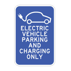 12x18 Electric Vehicle Parking And Charging Only Sign -